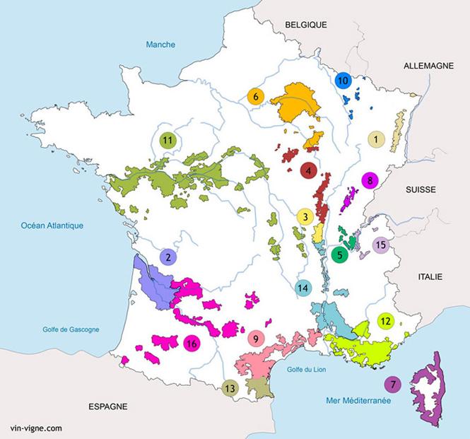 Les vignobles françaises